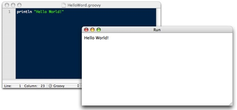 TextMate Screen Shot - Groovy Output w/ Command + R