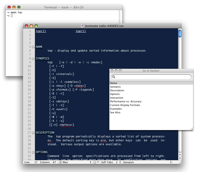 Showing off the TextMate man page bundle
