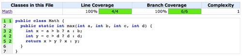 Example 6 - 100% Line Coverage. 100% Branch Coverage.