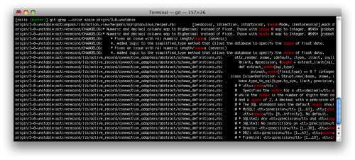 Colorized output of 'git grep'